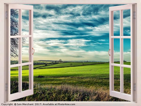 Window onto Sunlit Fields  Canvas print by Iain Merchant