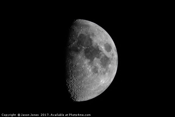 First Quarter Phase of the Moon Canvas print by Jason Jones