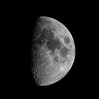 Buy canvas prints of First Quarter Phase of the Moon by Jason Jones