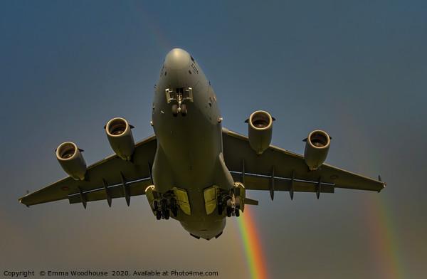 Rainbow C-17 Framed Print by Emma Woodhouse