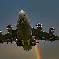 Buy canvas prints of Rainbow C-17 by Emma Woodhouse