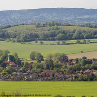 Buy canvas prints of South Harting village in the South Downs, UK by Kat Brandt