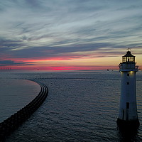 Buy canvas prints of New Brighton Light House by Paul Raynard