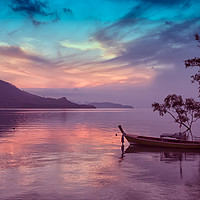 Buy canvas prints of Dawn in Phang Nga Bay from Phuket, Thailand by Kevin Hellon