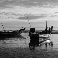 Buy canvas prints of Boats on Sanamwan beach, Thailand by Kevin Hellon