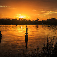 Buy canvas prints of Sunrise, Greenwell Point, by Kevin Hellon