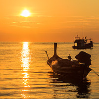 Buy canvas prints of Sunset, Bang Tao beach, Phuket, Thailand by Kevin Hellon