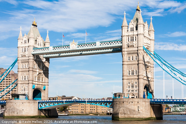 Tower Bridge over the River Thames,  Canvas print by Kevin Hellon