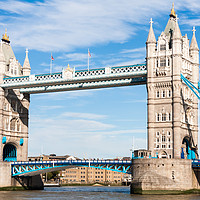 Buy canvas prints of Tower Bridge over the River Thames,  by Kevin Hellon