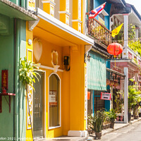 Buy canvas prints of Colourful sino portuguese architecture by Kevin Hellon