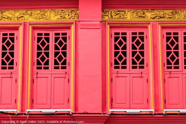 Colourful, restored sino portuguese architecture  Canvas Print by Kevin Hellon