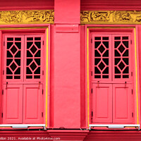 Buy canvas prints of Colourful, restored sino portuguese architecture  by Kevin Hellon