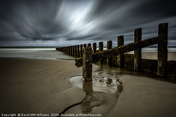 Groynes Canvas print by David MM Williams