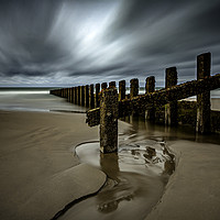 Buy canvas prints of Groynes by David MM Williams