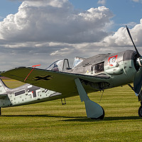 Buy canvas prints of Flug Werk Fw 190A-8N nachbau G-FWAB by Colin Smedley