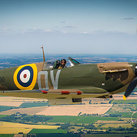 Buy canvas prints of Spitfire MkI in flight by Mike Lanning