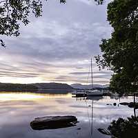 Buy canvas prints of Sunset Over Lake Windermere by Mal Spain