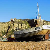 Buy canvas prints of Hastings Fishing Fleet by Lee Sulsh