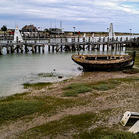 Buy canvas prints of Derelict Boat Rye Harbour                        by Lee Sulsh