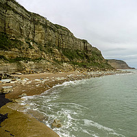 Buy canvas prints of The Cliffs at Rock a Nore Hastings by Lee Sulsh