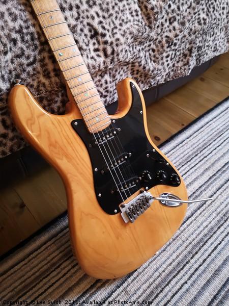 Fender Stratocaster Lite Ash Canvas print by Lee Sulsh