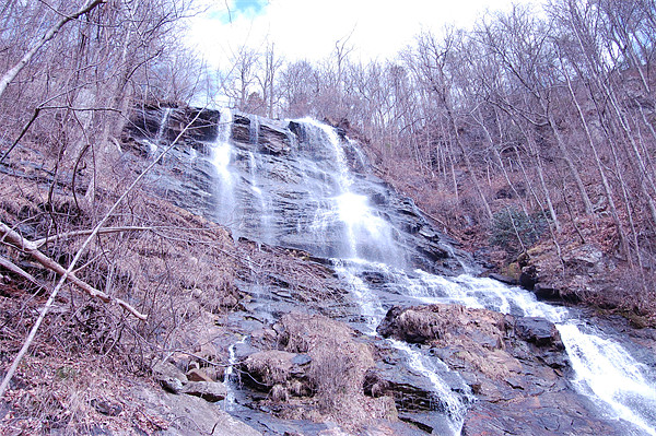 Amicalola Falls in February Canvas Print by Emma Crowter