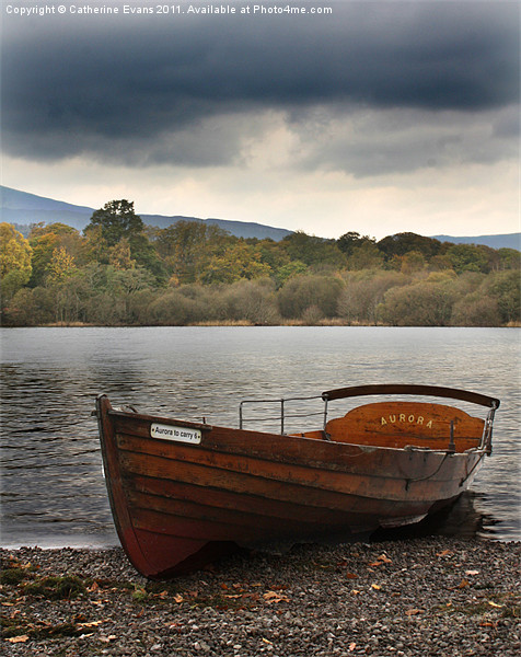 Row boat on Derwentwater Canvas print by Catherine Evans