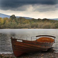 Buy canvas prints of Row boat on Derwentwater by Catherine Evans