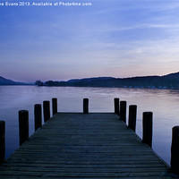 Buy canvas prints of Coniston Jetty Sunset by Catherine Evans