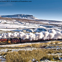 Buy canvas prints of Steam and Snow by Catherine Evans
