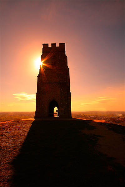 Glastonbury Tor Canvas print by Simon Drew