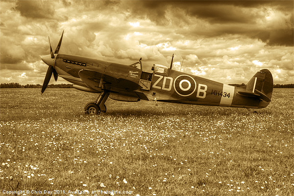 Spitfire Mk IXB Canvas print by Chris Day