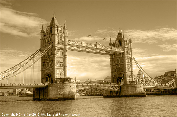 Tower Bridge Canvas print by Chris Day