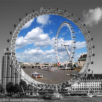 Buy canvas prints of The London Eye by Chris Day