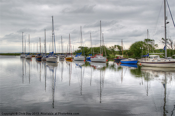 Christchurch Harbour Framed Mounted Print by Chris Day