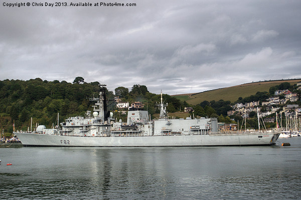HMS Somerset Canvas print by Chris Day