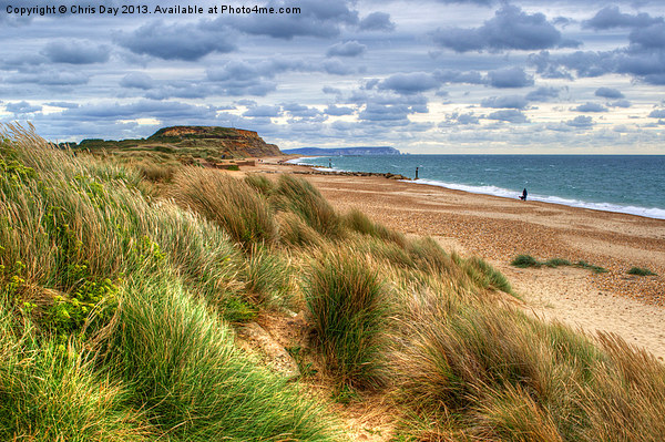 Hengistbury Head Framed Mounted Print by Chris Day