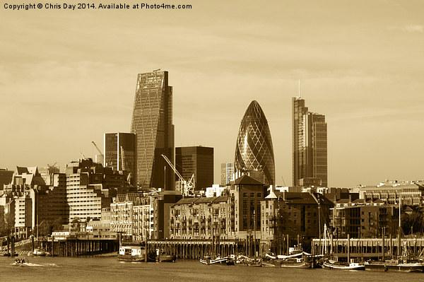 City of London Skyline Canvas Print by Chris Day
