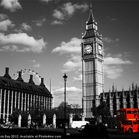 Buy canvas prints of Routemaster Bus and Big Ben by Chris Day