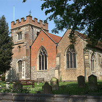 Buy canvas prints of St Marys Parish Church Harefield by Chris Day