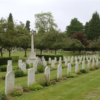 Buy canvas prints of War Graves in Northwood Cemetery by Chris Day