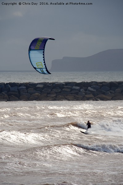 Kite Surfer Canvas print by Chris Day