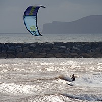 Buy canvas prints of Kite Surfer by Chris Day