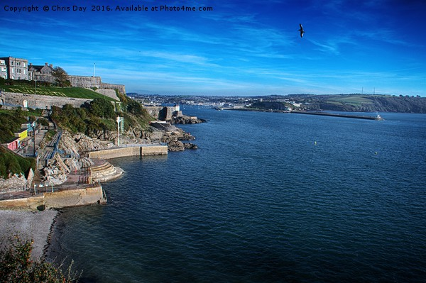 Plymouth Seafront Framed Mounted Print by Chris Day
