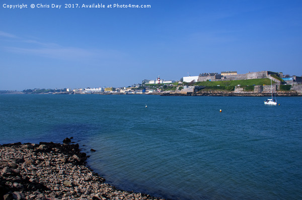 Plymouth Hoe and Foreshore Framed Mounted Print by Chris Day