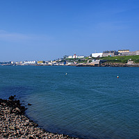 Buy canvas prints of Plymouth Hoe and Foreshore by Chris Day