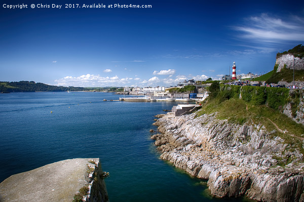 Plymouth Foreshore Framed Mounted Print by Chris Day