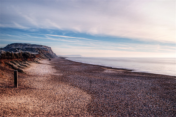 Hengistbury Head and Beach Framed Mounted Print by Chris Day