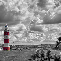 Buy canvas prints of Plymouth Hoe and Smeatons Tower  by Chris Day