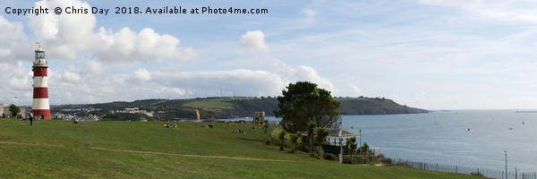 Plymouth Hoe Panorama Framed Mounted Print by Chris Day